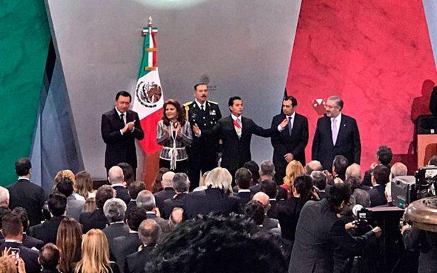 En Palacio Nacional Peña Nieto ofrece mensaje por V Informe de Gobierno