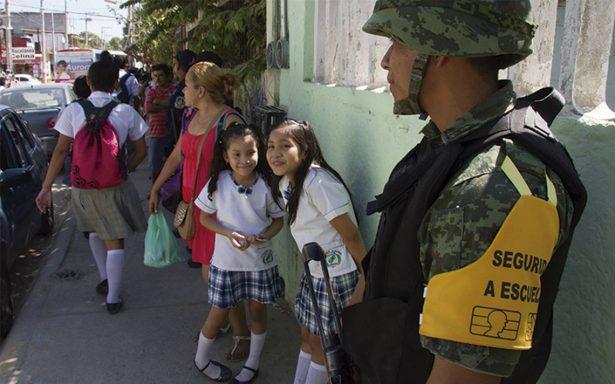 Marinos cuidarán el regreso a clases de estudiantes y maestros