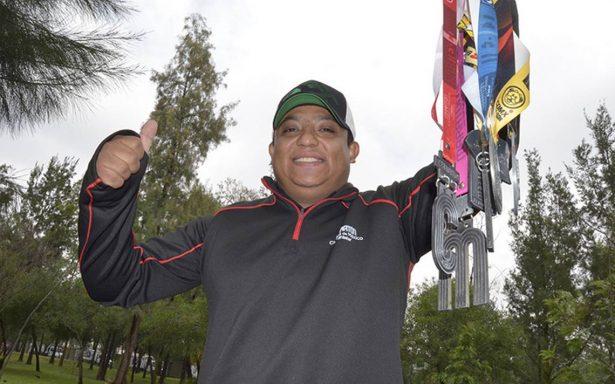René Salas maratonista de éxito