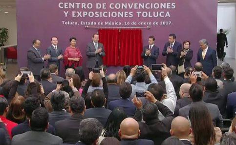 Inauguran Centro de Convenciones y Exposiciones Toluca