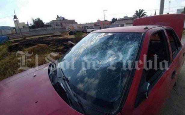 Golpean a pintores que rotulaban propagando política en Amozoc