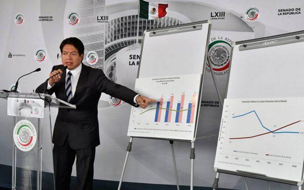 Paquete Económico no garantiza crecimiento, solo una mayor deuda: Mario Delgado