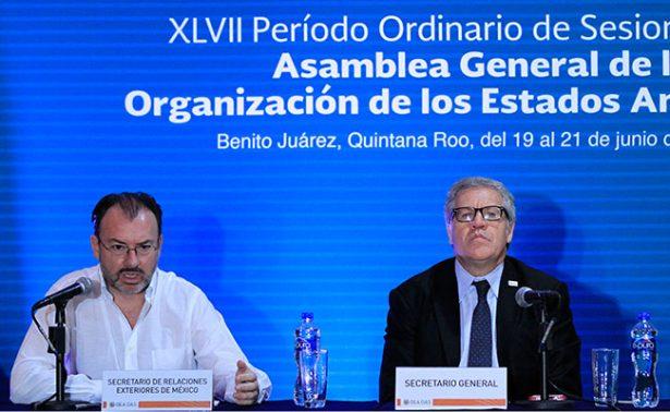 Todos los escenarios están abiertos en reunión sobre Venezuela: Videgaray
