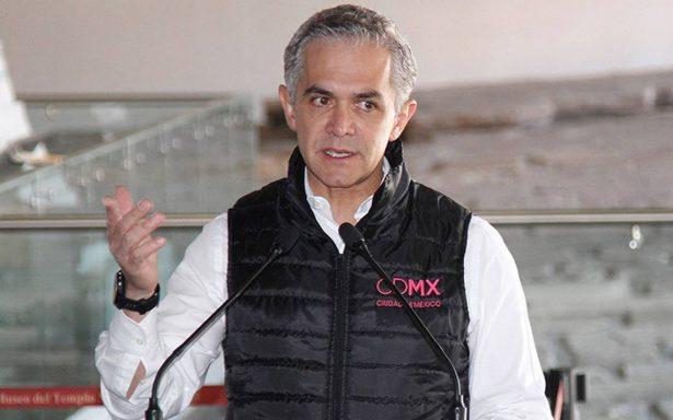Mancera pide firmar pacto de civilidad entre partidos por próximas elecciones