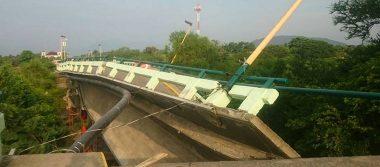 Cae puente Ixtlaltepec tras el temblor