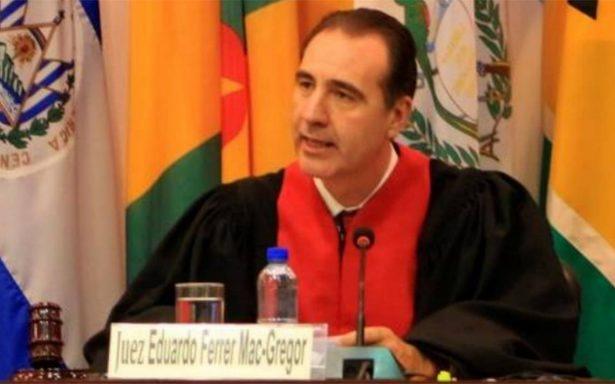 Eduardo Ferrer, juez mexicano, asume presidencia de la CorteIDH