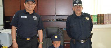 Oscar Daniel, nombrado Policía Estatal Honorario