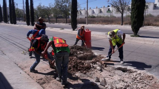No paran trabajos de limpieza de drenajes sanitario
