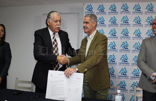 Coparmex SLP y ProMéxico firman convenio para generar oportunidades de negocio en el exterior