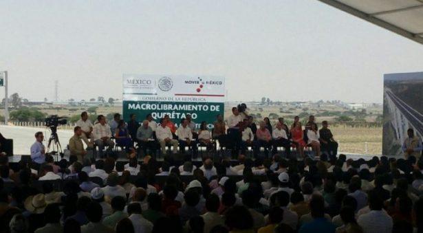 Asiste JMCL a apertura de Macro Libramiento de Querétaro