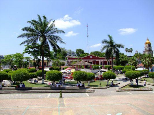 Plaza principal de Aquismón, lista tras rehabilitación