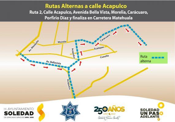 Vias alternas a calle acapulco 2