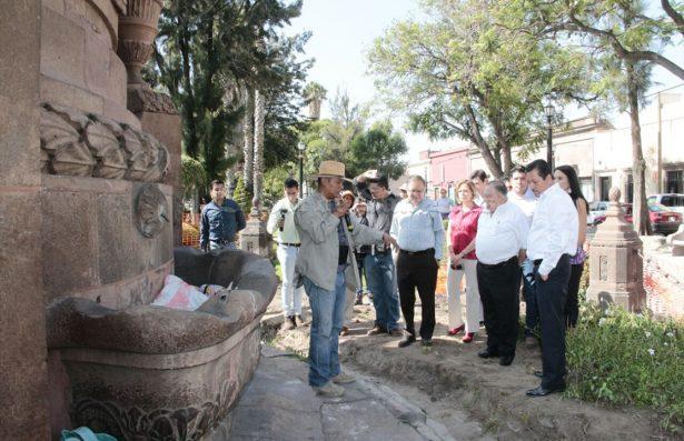 Inició la restauración de la Caja del Agua