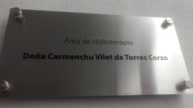 Área de hidroterapia Carmenchu Villet de Torres Corzo