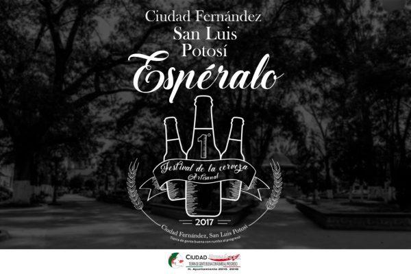 Festival de cerveza artesanal en Cd. Fernández, 19 y 20 de agosto