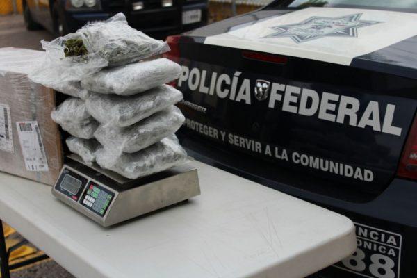 Aseguran más de dos kilos de marihuana en aeropuerto de SLP