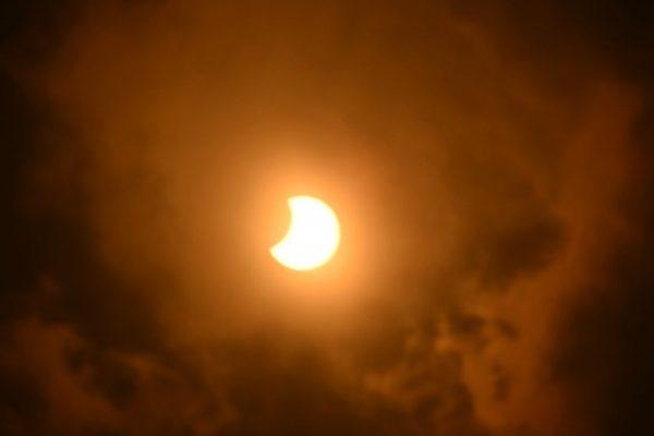 Así se miró el eclipse de sol en SLP