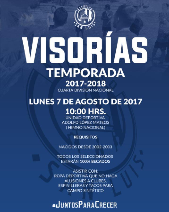 Visorías Atletico de San luis 4ta division