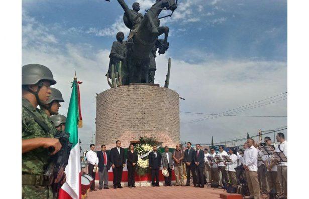 Recuerdan a Emiliano Zapata en su natalicio