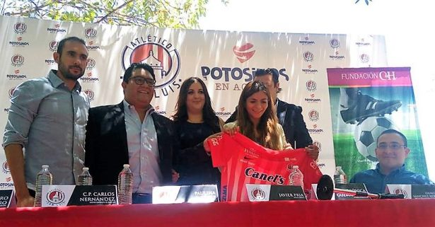 """Atlético de San Luis apoya campaña """"Goles para ver mejor"""""""
