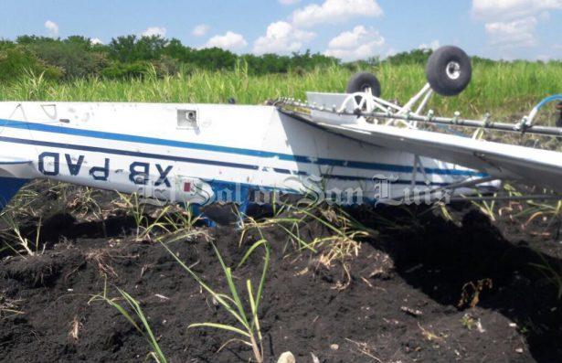 Cae avioneta en Valles; el piloto resultó lesionado