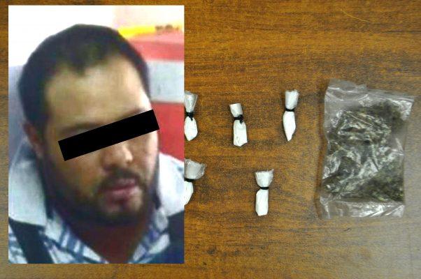Detenido por posesión de drogas
