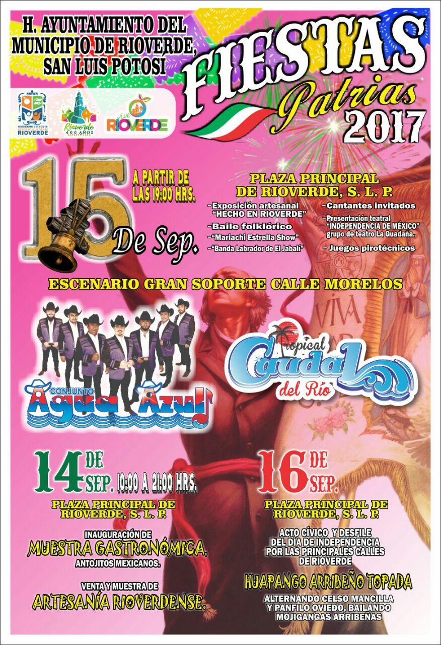 Diversas acividades civicas, deportivas artisticas y culturales habra durante estos dias patrios en Rioverde