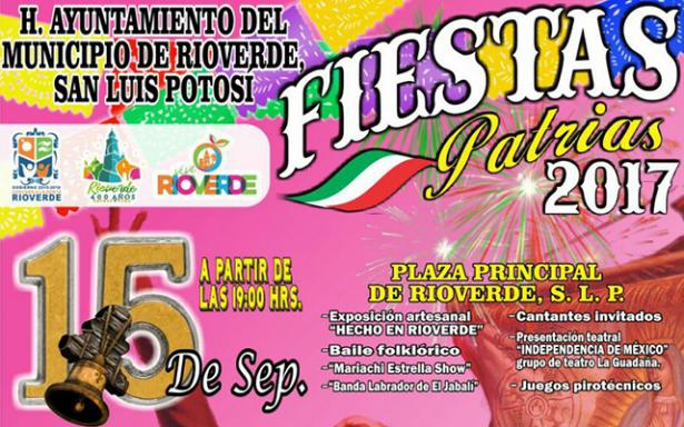 Comienzan festejos en Rioverde por aniversario 207 de la Independencia de México