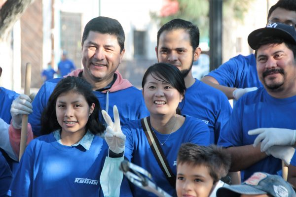 La gran familia Keihin limpió Calzada de Guadalupe
