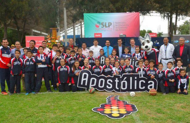 Inauguran liga deportiva escolar educación física