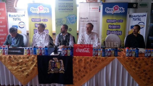Presentan XXXVI Medio Maratón de la UASLP