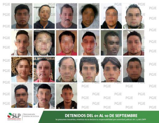 PGJE detuvo a 23 personas en primeros 10 días de septiembre