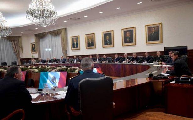 Peña Nieto sostiene reunión con su Gabinete por sismo
