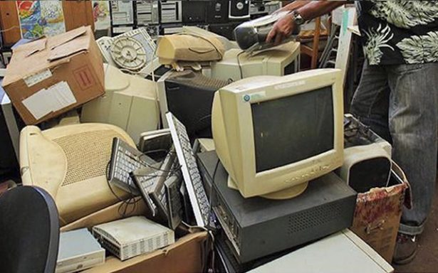 Recolecta el ayuntamiento toneladas de basura electrónica