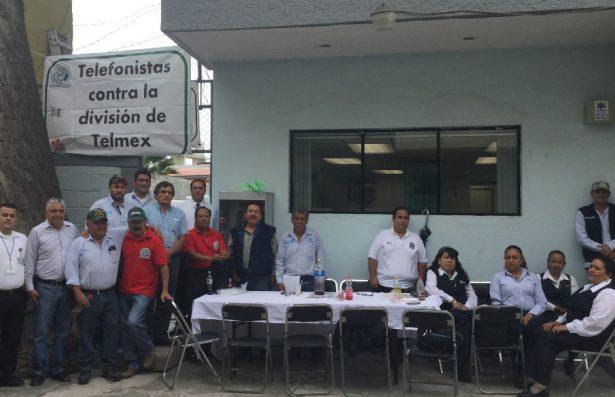 Telefonistas se sumaron al paro nacional para exigir que no se divida a la empresa TELMEX