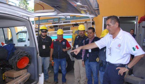 Brigada Metropolitana de PC parte a la CDMX a participar en labores de rescate