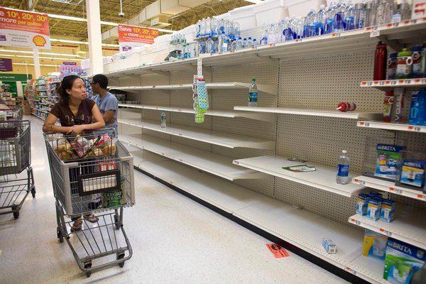 Productos agotados en tiendas ante donaciones a damnificados