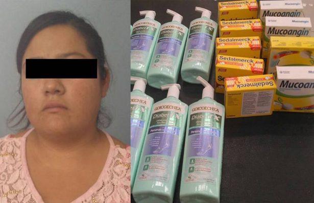 Detienen a mujer por robar en tienda comercial