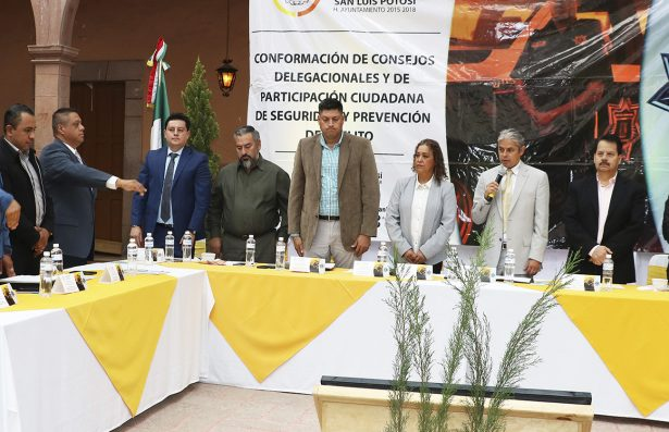 Instalan Consejo Delegacional de Seguridad Pública contra el delito