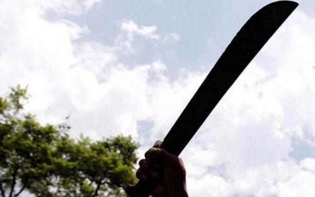 Atacó a su rival con machete; ya está detenido