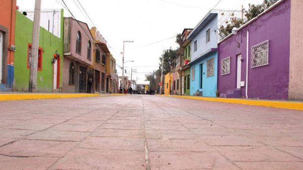 Con las nuevas pavimentaciones se moderniza la capital potosina