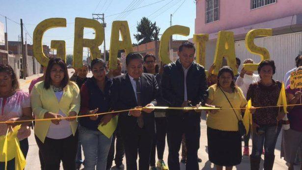 Entrega Alcalde, calle pavimentada en Rivas Guillén Norte
