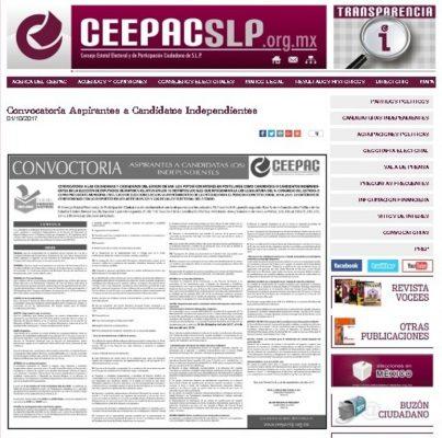 Publica CEEPAC convocatoria para registro de candidatos independientes