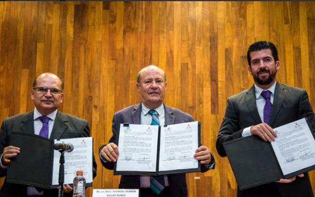 Firman convenio el STJ y la UASLP