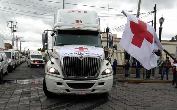 Recaudó la Cruz Roja 40 toneladas  de apoyo para los damnificados