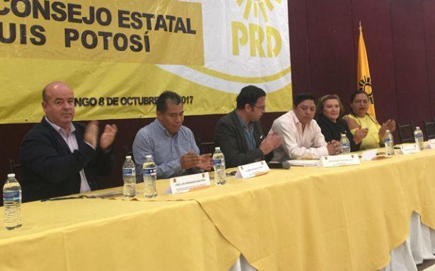 Acuerda PRD alianzas o coaliciones partidiarias