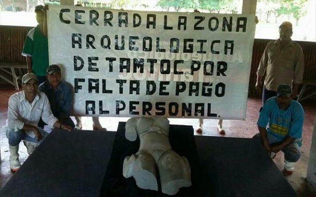 Cierran sitio arqueológico de Tamtoc