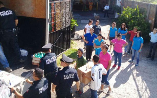 Policía Federal de SLP entregaron víveres a la Fundación Padre Chinchachoma