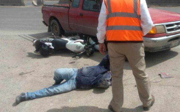 Atropellan a motociclista en Periférico