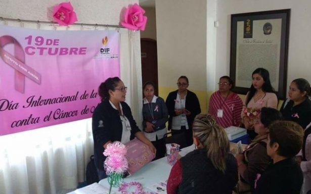 Imparten pláticas sobre prevención del cáncer